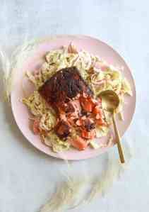 Five Spice Blackend Salmon with Apple Slaw
