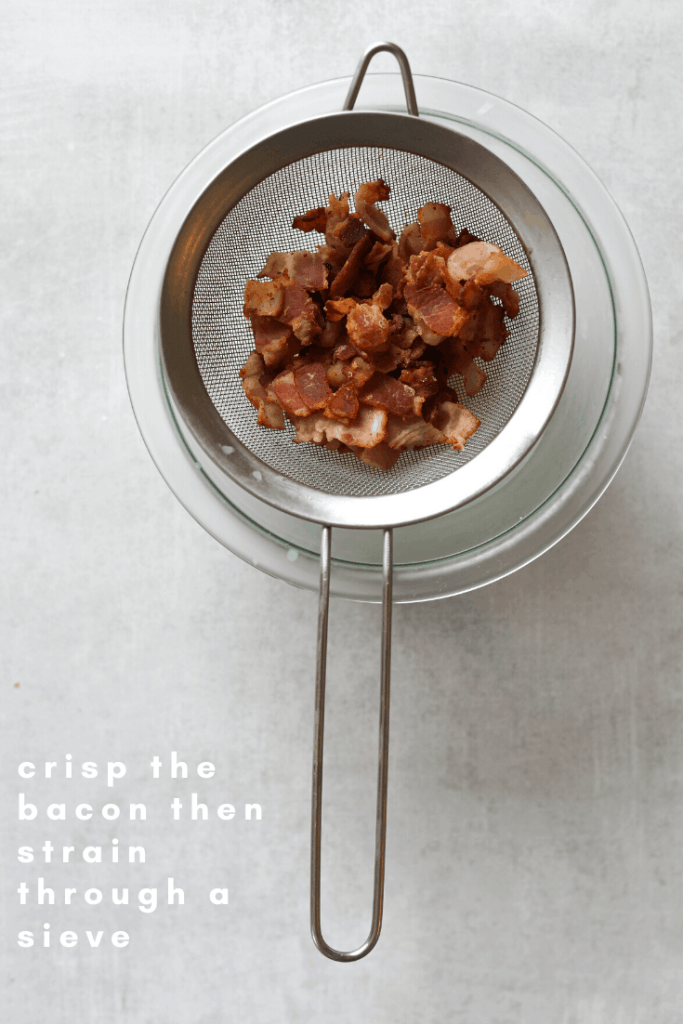 crispy bacon cooling in a bowl