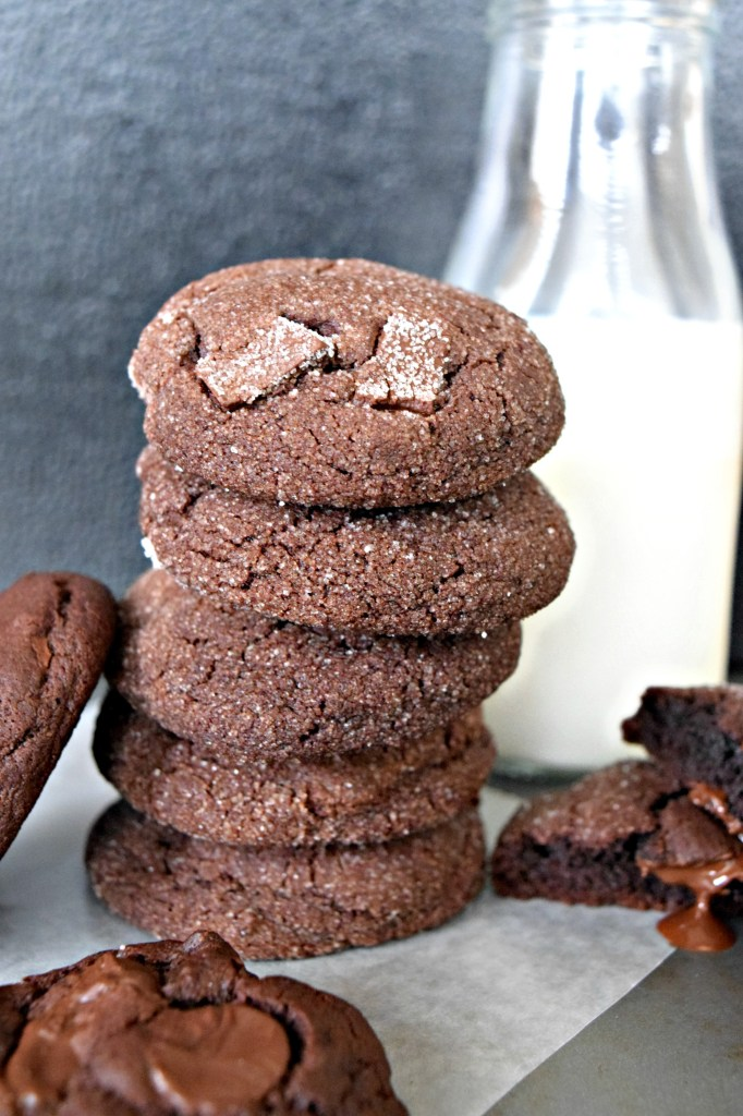 Chewy Chocolate Cookies. Easy to make, yummy, and oh so chocolatey, these are the perfect sweet treat to satisfy your sweet tooth! #cravingeverything Find the recipe at cravingeverything.com