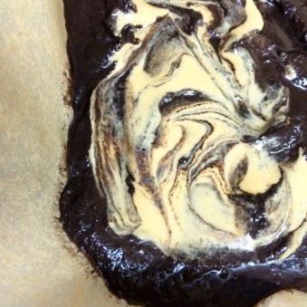 Batter is prepped, swirled and ready