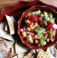 Sweet 'n Spicy Fruit Salsa by CravingSomethingHealthy.com