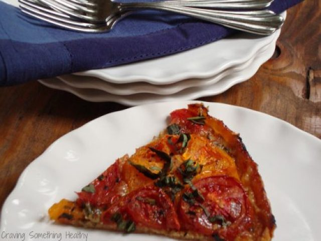 Summer Roasted Tomato Tart|Craving Something Healthy