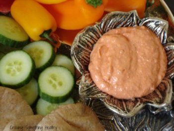 Roasted Red Pepper and Sun Dried Tomato Dip|Craving Something Healthy