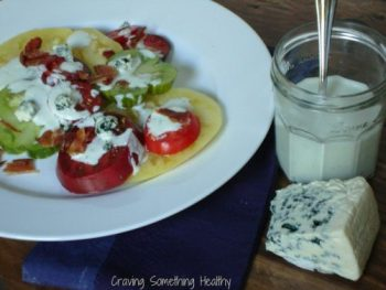 Heirloom Tomatoes With Blue Cheese Dressing and Bacon|Craving Something Health