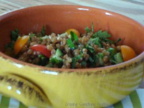 Tabbouleh with Wheat Berries and Herbs