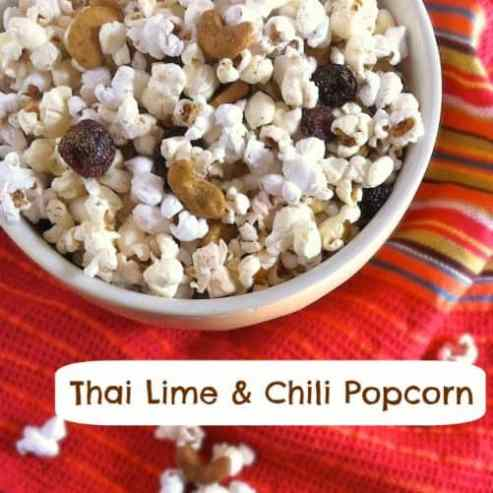 Thai Lime Chili Popcorn|Teaspoon of Spice