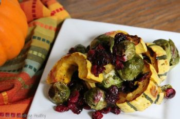 Roasted Brussels Sprouts, Delicata Squash and Cranberries|Craving Something Healthy