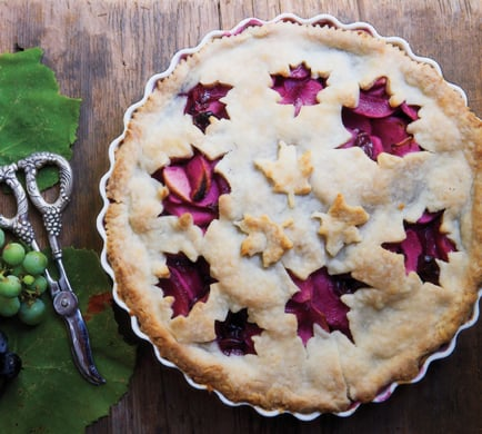 Grape and Apple Pie|Epicurious