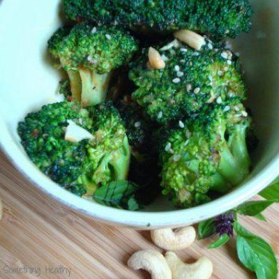 Spicy Broccoli with Peanut Sauce