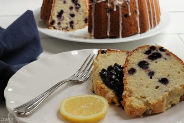 Wild Blueberry Lemon Cream Cheese Poundcake|Craving Something Healthy