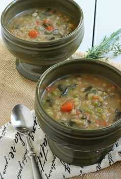 Bean and Barley Vegetable Soup|Craving Something Healthy