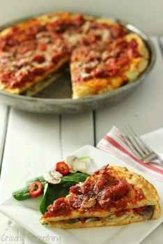 Healthier Chicago Style Pizza|Craving Something Healthy