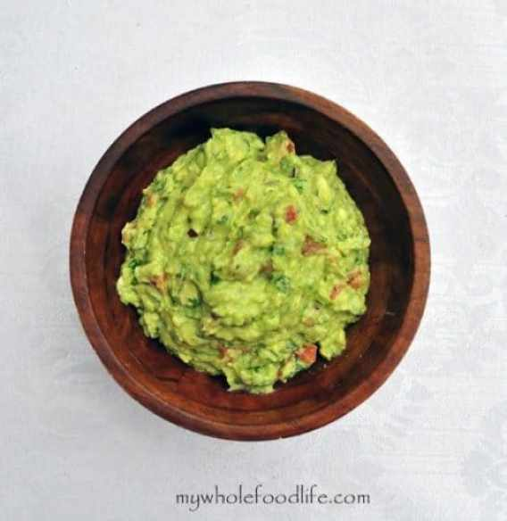Guacamole with Roasted Tomatillos and Chipotle Peppers|My Whole Food Life