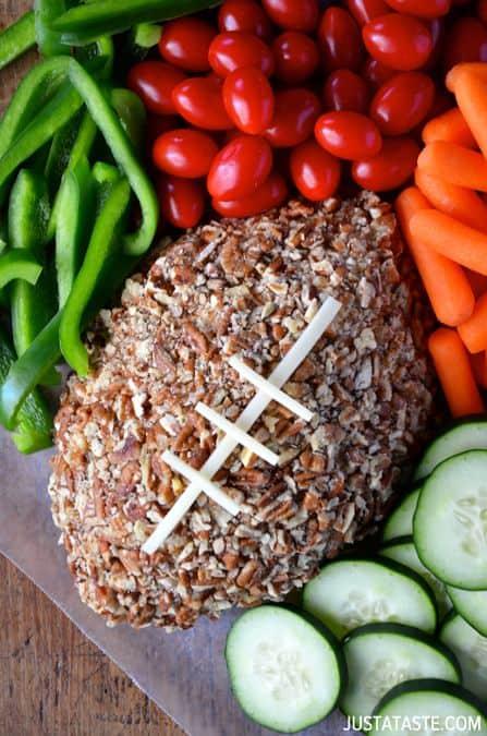 Football Cheese Ball|Just A Taste