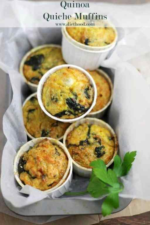 Quinoa Quiche Muffins with Spinach and Cheese|Diethood