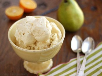 Skinny Pear and Meyer Lemon Ice Cream|Craving Something Healthy