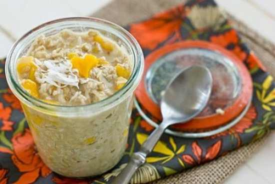 Coconut Mango Overnight Oats|Oh My Veggies