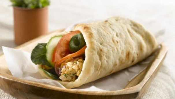 Spicy Chickpea Naan Wrap|Stonefire