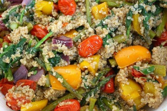 Rainbow Roasted Veggies with Quinoa|The Garden Grazer