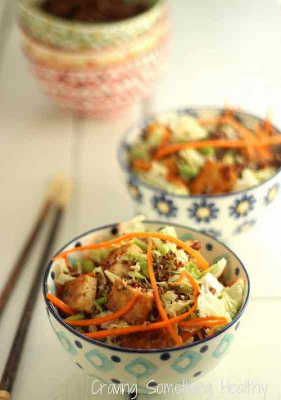 Sesame Tofu Salad with Quinoa|Craving Something Healthy