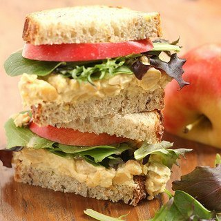 Curried Chickpea Salad Sandwiches {Meatless Monday}