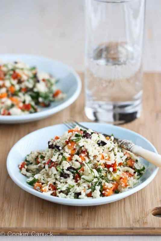 Grated Cauliflower Salad|Cookin Canuck