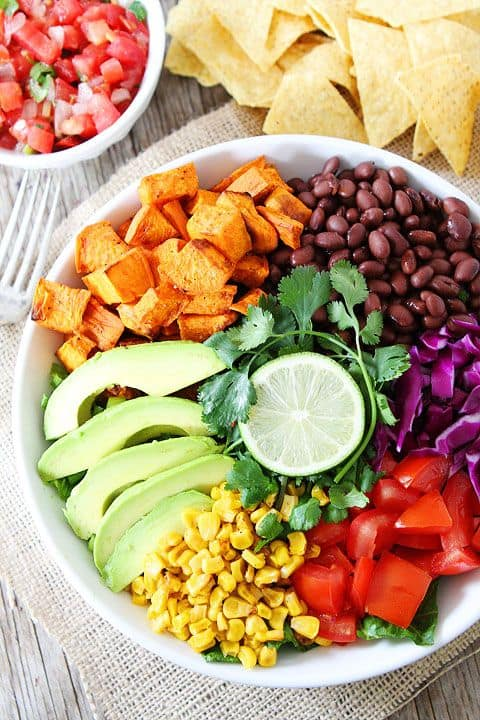 Sweet Potato and Black Bean Mexican Salad|Two Peas and Their Pod
