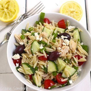 Rotisserie Chicken and Orzo Greek Salad