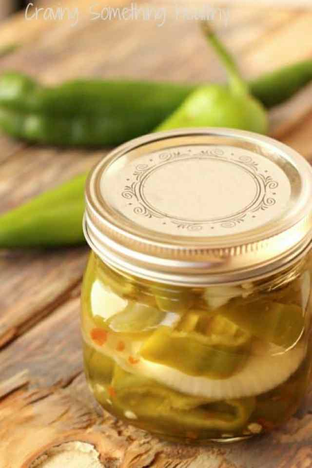 Pickled Hatch Chiles & Sweet Onions|Craving Something Healthy
