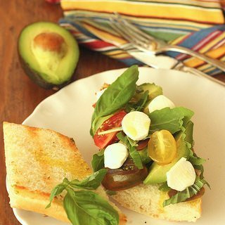 Avocado Caprese Sandwich {Meatless Monday}