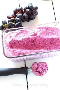 Just Black Grapes Sorbet|Craving Something Healthy