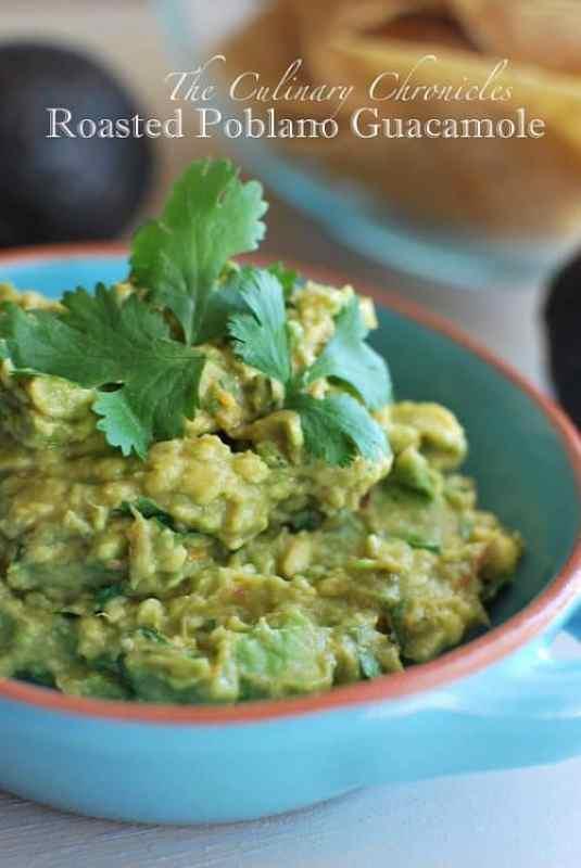 Roasted Poblano Guacamole|The Culinary Chronicles