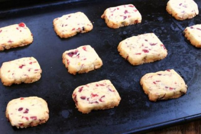 Cranberry Orange Almond Shortbread COokies|Craving Something Health