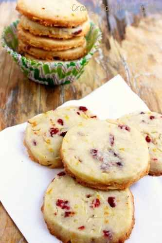 Cranberry Orange Almond Shortbread Cookies|Craving Something Healthy