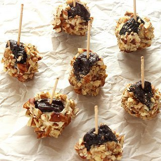 Dried Plum Bites with Gorgonzola Dolce and Toasted Pecans