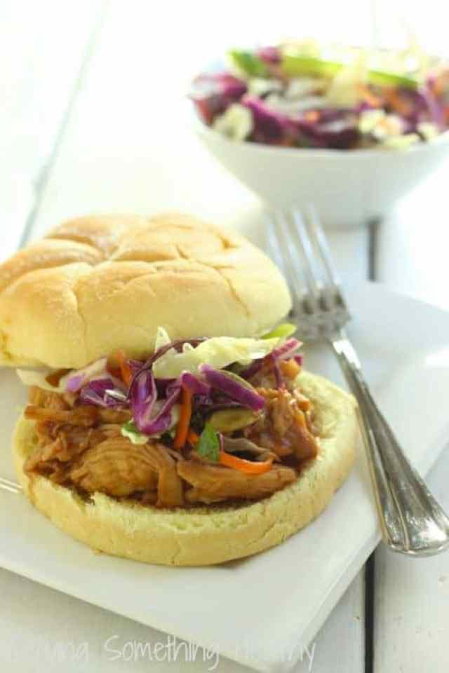 Cranberry Asian Barbecue Chicken Sandwiches Craving Something Healthy
