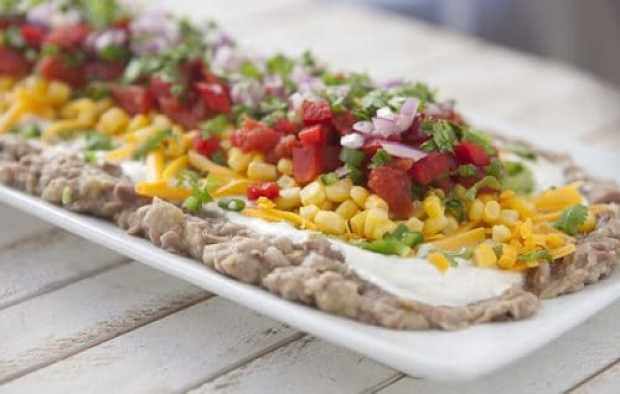 Bean and Vegetable Layered Dip|Muir Glen