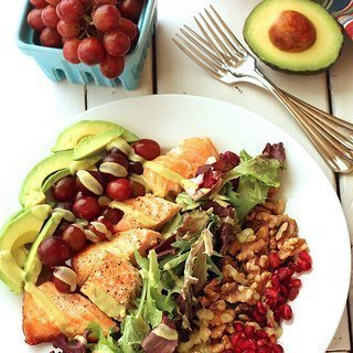 Heart Smart Grilled Salmon Salad
