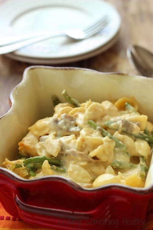 Slow Cooker Cheesy Chicken Asparagus Casserole|Craving Something Healthy