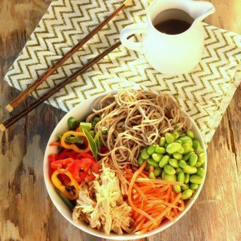 Summer Slow Cooker Asian Chicken Salad Bowls