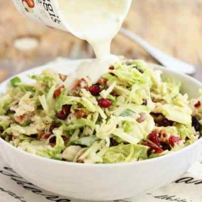 Holiday Slaw with Greek Yogurt Dressing