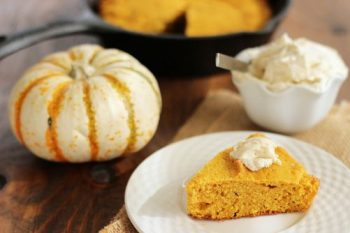 Buttermilk Pumpkin Cornbread with Maple Butter
