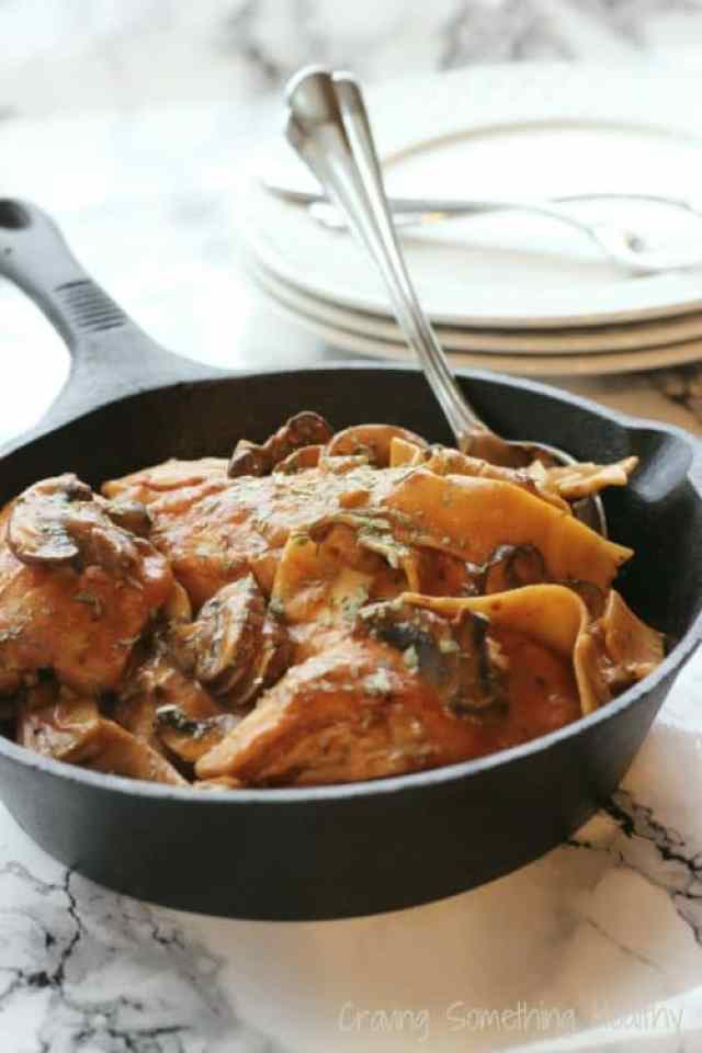 Skillet Tarragon Chicken with Noodles|Craving Something Healthy