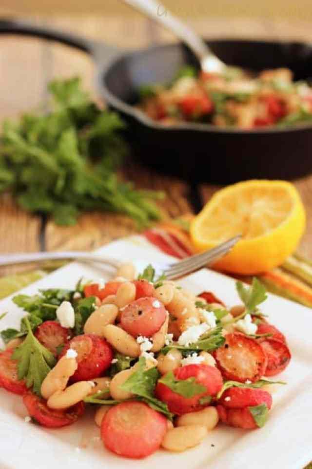 Roasted Radish and White Bean Salad Craving Something Healthy