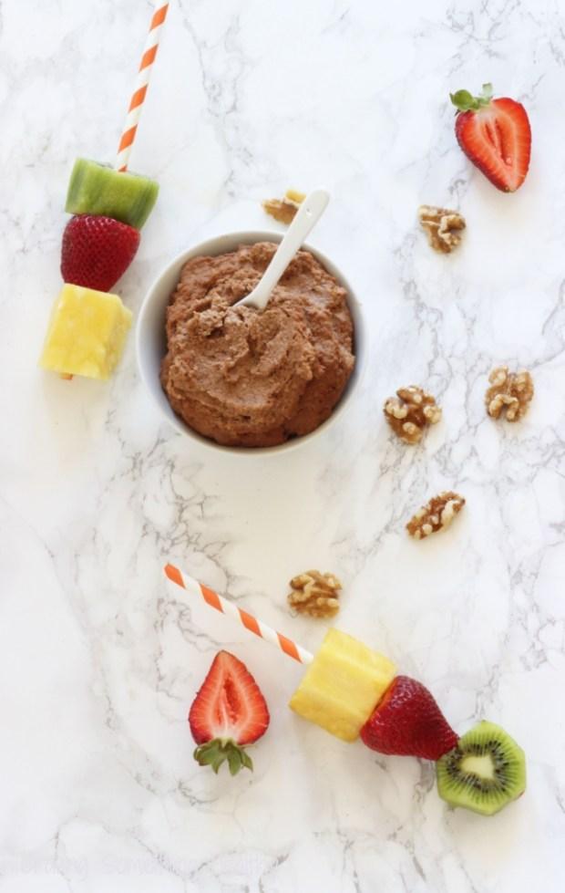 Chocolate Walnut Hummus|Craving Something Healthy