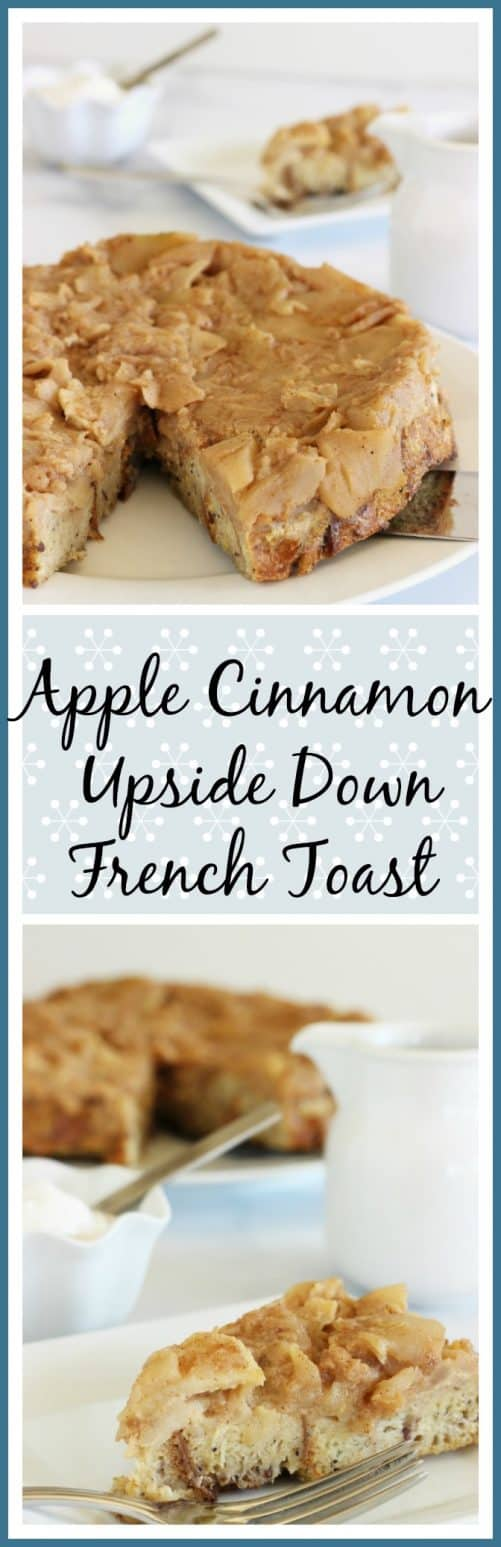 Easy, make ahead brunch recipe that's surprisingly low carb! Apple Cinnamon Upside Down French Toast|Craving Something Healthy