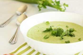 Cool Cucumber Celery and Avocado Soup|Craving Something Healthy
