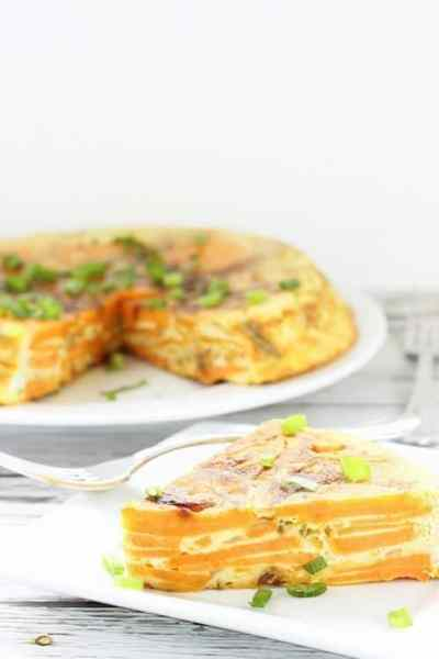 Spanish Tortilla with Sweet Potatoes and Green Chilis