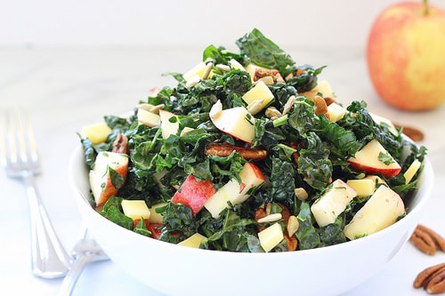 Kale Apple Salad with Cranberry Vinaigrette|Craving Something Healthy