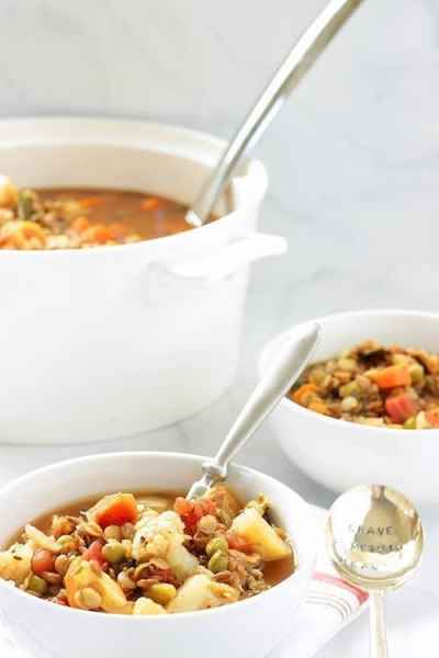 Heart Healthy Mediterranean Vegetable Lentil Soup |Craving Something Healthy